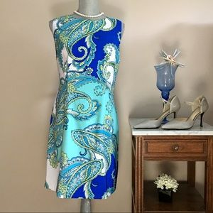 Tropical Water Color Dress